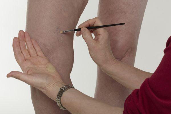 Maquillaje en las piernas